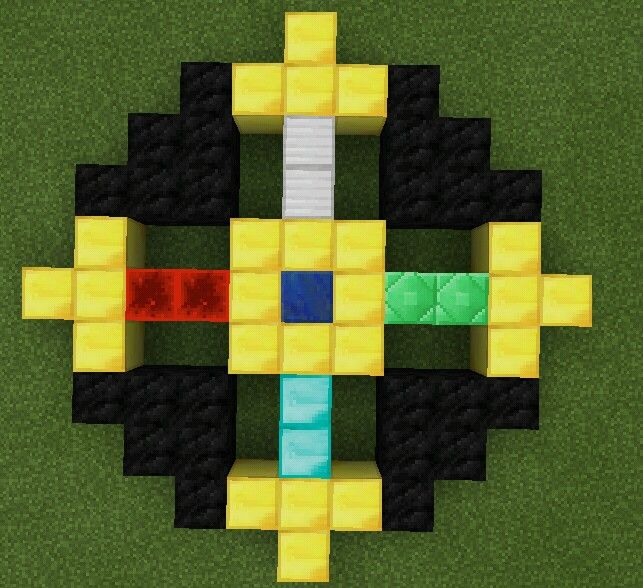 How To Make Pixel Art In Minecraft Bedrock The Amulet Of The Order Of The Stone Minecraft Pixel Art Minecraft Architecture Minecraft Houses