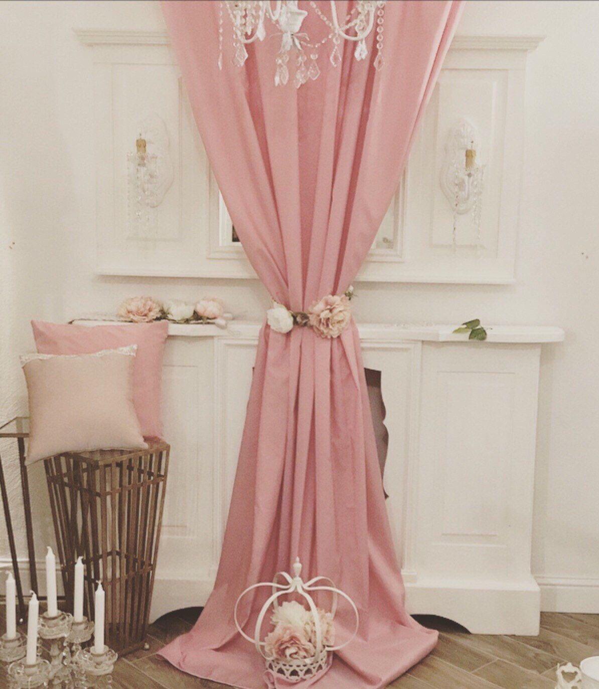 Tende In Velluto Di Seta tenda taffetá rosa cipria intenso (con immagini) | tende