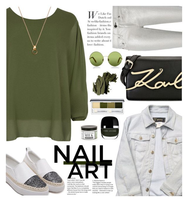 """""""Green With Envy: Wintery Nail Polish"""" by nadiahirbah288 ❤ liked on Polyvore featuring beauty, WearAll, rag & bone, Versace, Karl Lagerfeld, Marc Jacobs, Victoria, Victoria Beckham, Home Decorators Collection, Clinique and Bobbi Brown Cosmetics"""