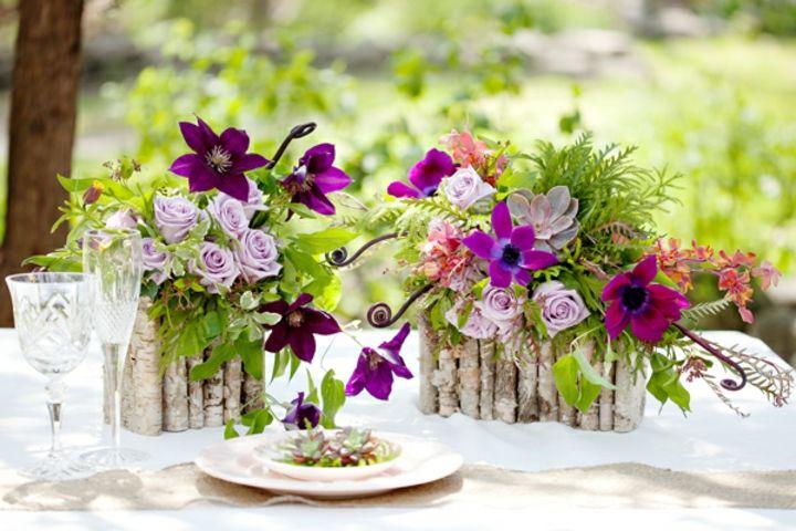 Unas preciosas ideas para arreglos de mesa Ve más fotos en ...