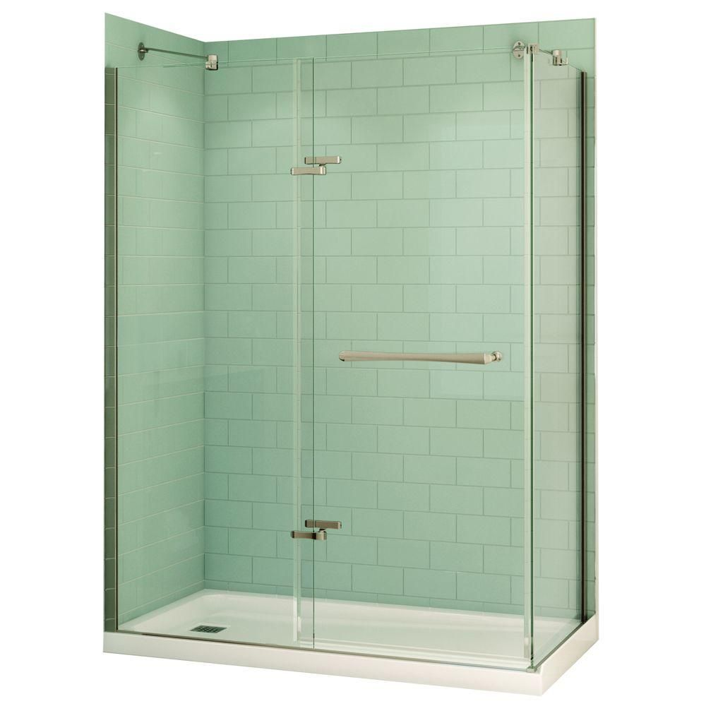 MAAX Reveal 32 in. x 60 in. x 74.5 in. Corner Shower Stall in White ...