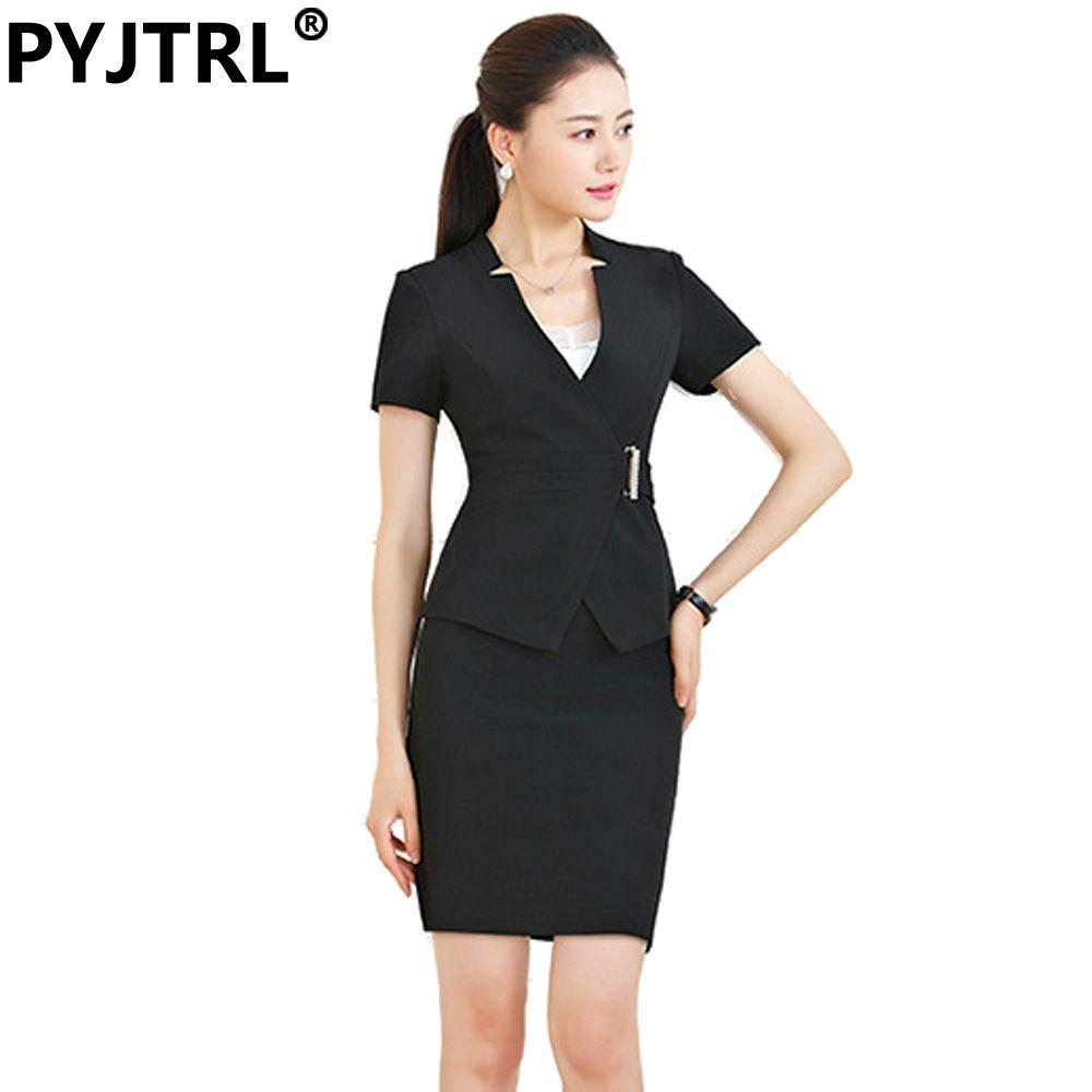 cd282467cc0 (Jacket+Skirt) Women s Summer Fashion Short Sleeve Formal Skirt Suit Office  Ladies Uniform Designs Professional Uniforms   Price   55   FREE Shipping  ...