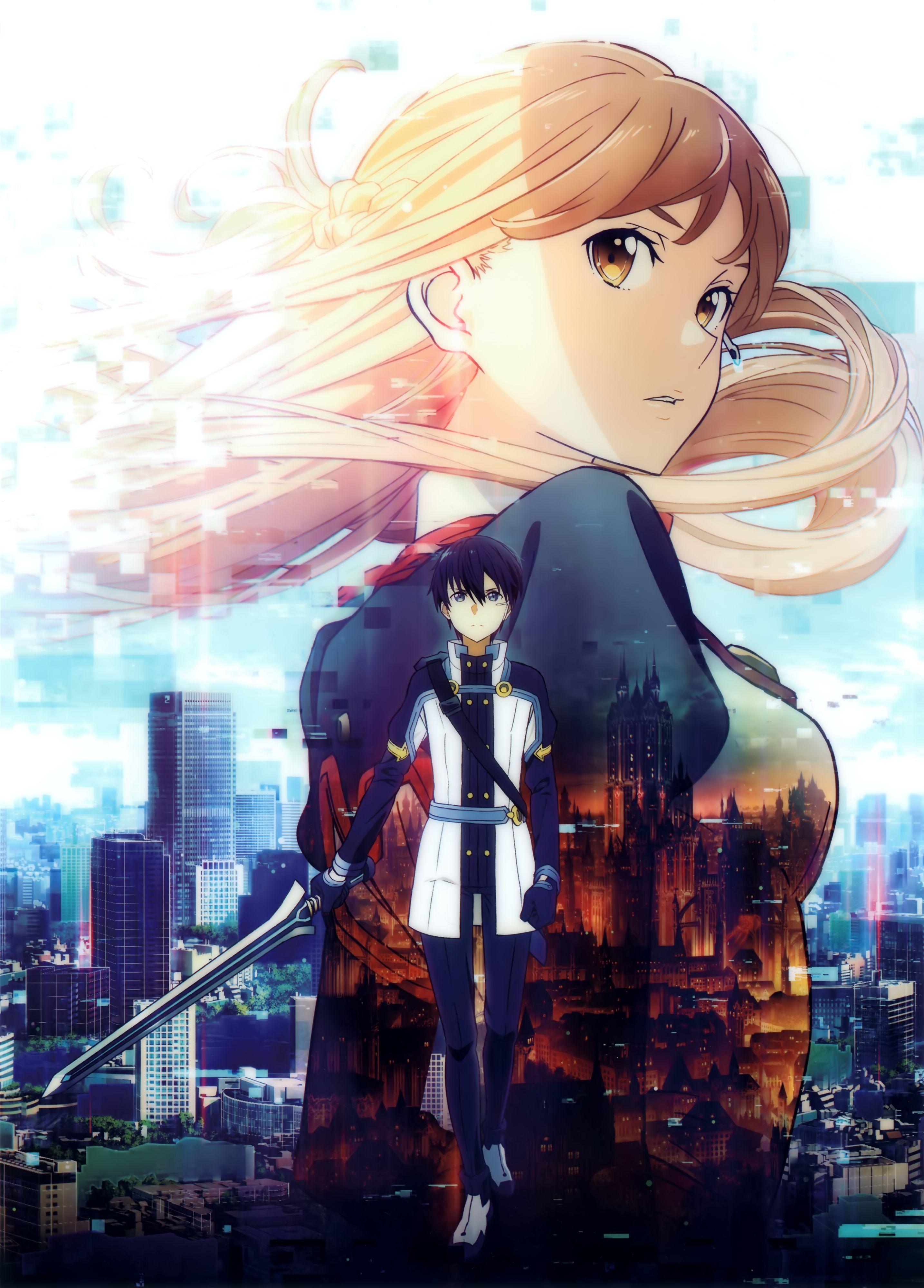 Tags: Scan, Sword Art Online, Yuuki Asuna, Official Art, A-1 ...