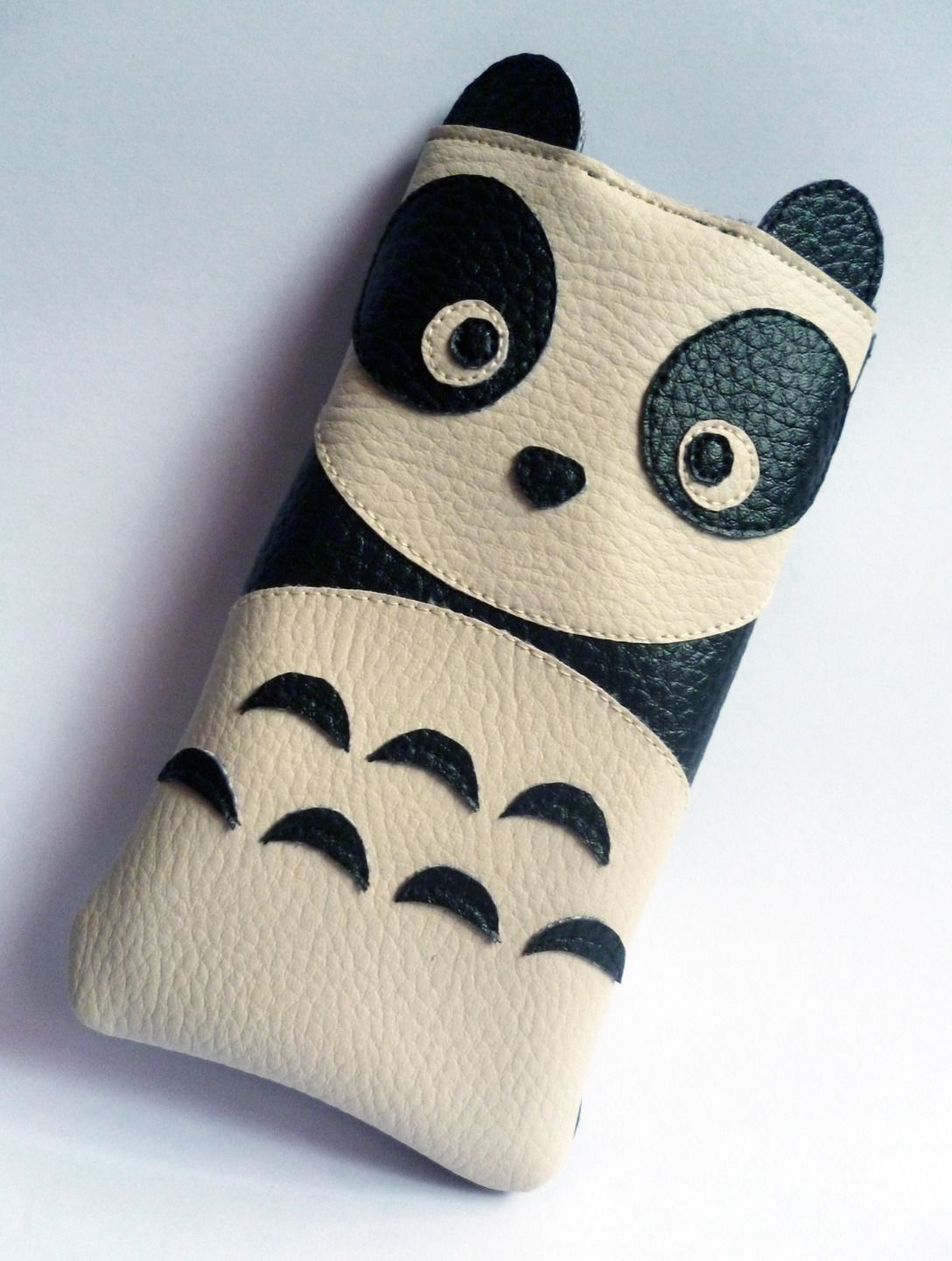 Housse t l phone portable panda simili cuir iphone etuis for Housse cuir iphone 4