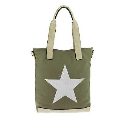 WOMEN'S STAR BAG XXL Shopper CANVAS Bolso de hombro Bolso de hombro BOLSO A …