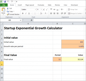 Startup Exponential Growth Calculator Plan Projections Exponential Growth Exponential Growth