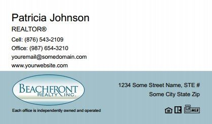 Beachfront Realty Business Cards Bri Bc 086 Without Photo