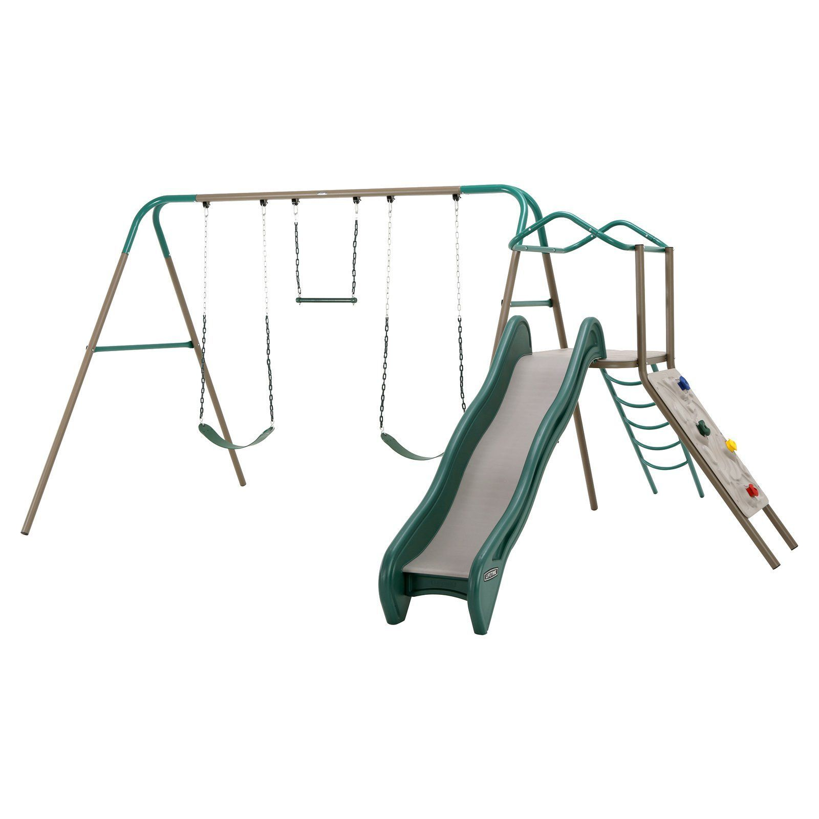 Lifetime products climb and slide swing set products