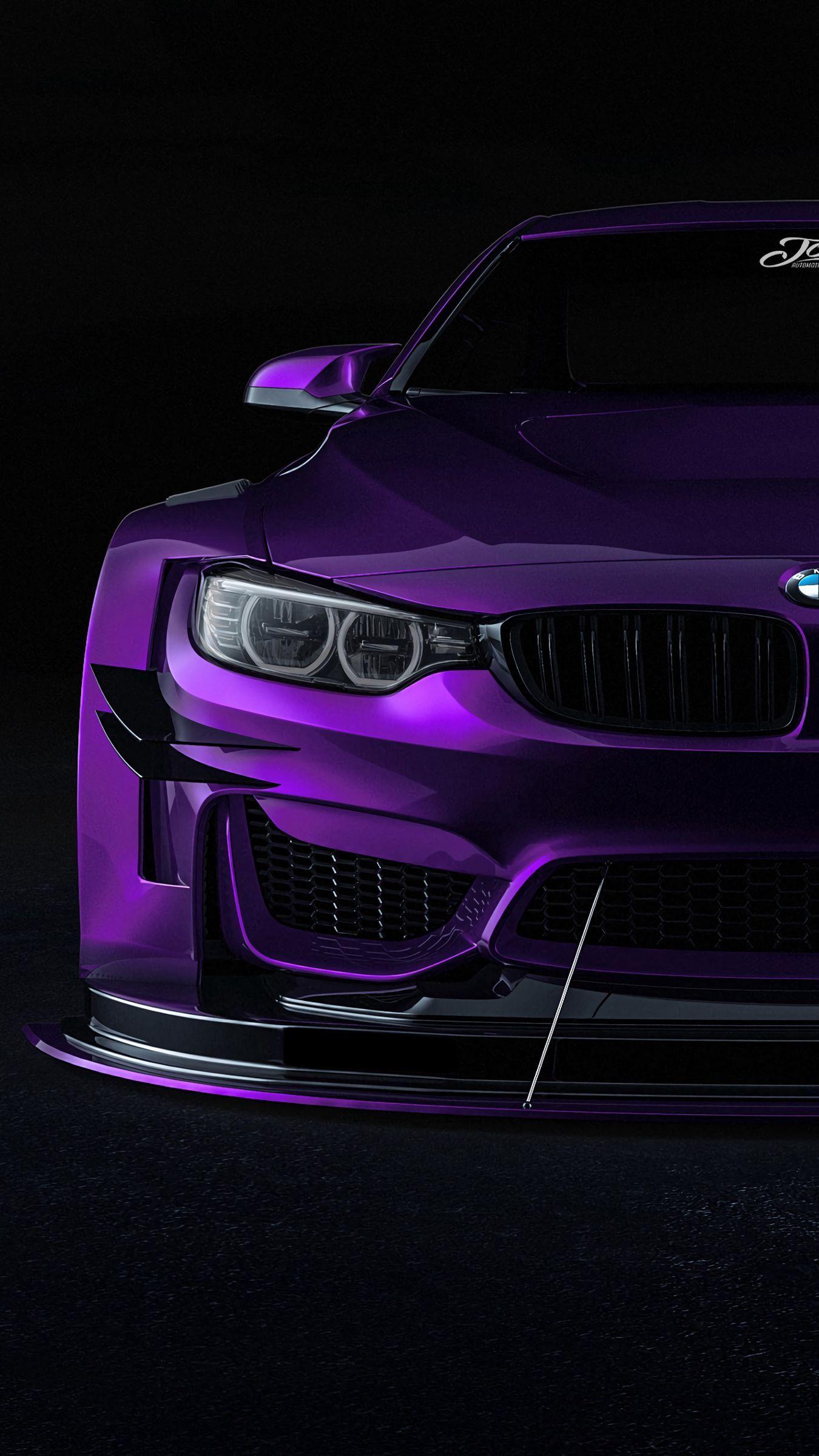 Download 1350x2400 Bmw Car Sportscar Purple Front View Wallpaper In 2021 Bmw Car Wallpapers Bmw Car