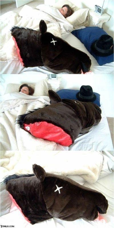Testa Di Cavallo Nel Letto.Horse Head Pillow Ridere