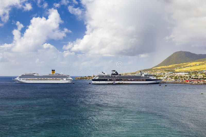 Cruise ships Costa Magica and Celebrity Cruises docked in
