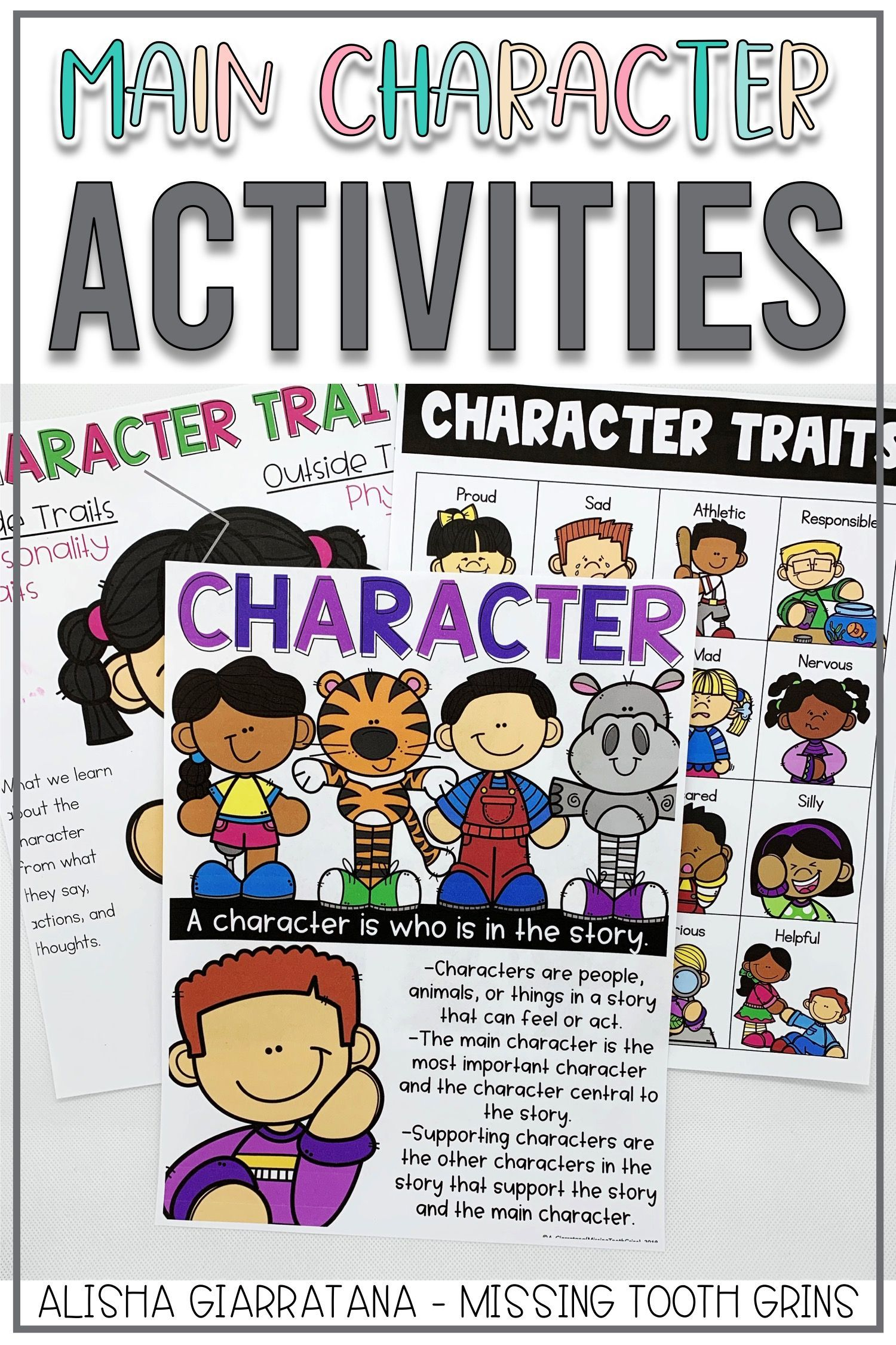 Main Character And Character Traits Are Fun To Teach In Kindergarten First Grade And Second G Character Activities Character Trait Worksheets Character Trait [ 2250 x 1500 Pixel ]