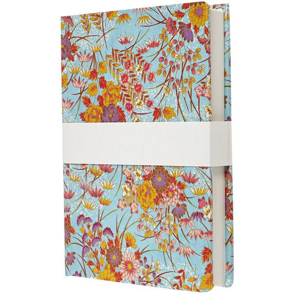 Esmie Medium Blue Handbound Notebook (81 BRL) ❤ liked on Polyvore featuring home, home decor and stationery
