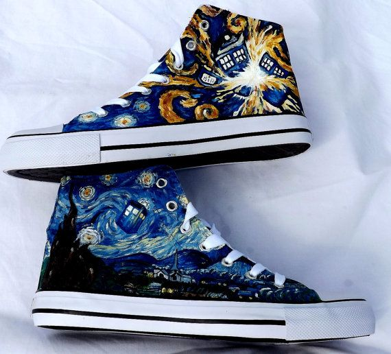5b476e9e8299 Van Gogh Doctor Who shoes... Obviously these would be very difficult... But  I want to try!