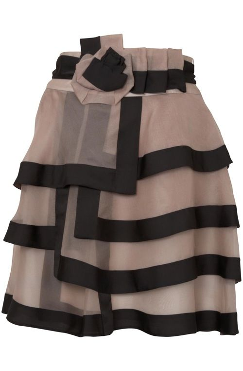 Black & Taupe Organza~ Perfect