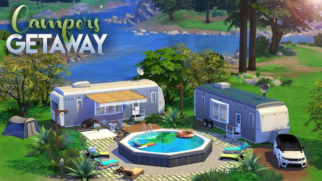 CAMPERS' GETAWAY // The Sims 4 Speed Build YouTube in