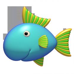 Sticker poisson bleu 1