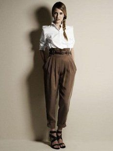 ladies pleated pants - Pi Pants