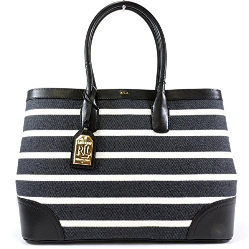 LAUREN Ralph Lauren Fairfield City Striped Tote - http://bags.bloggor.org/lauren-ralph-lauren-fairfield-city-striped-tote/