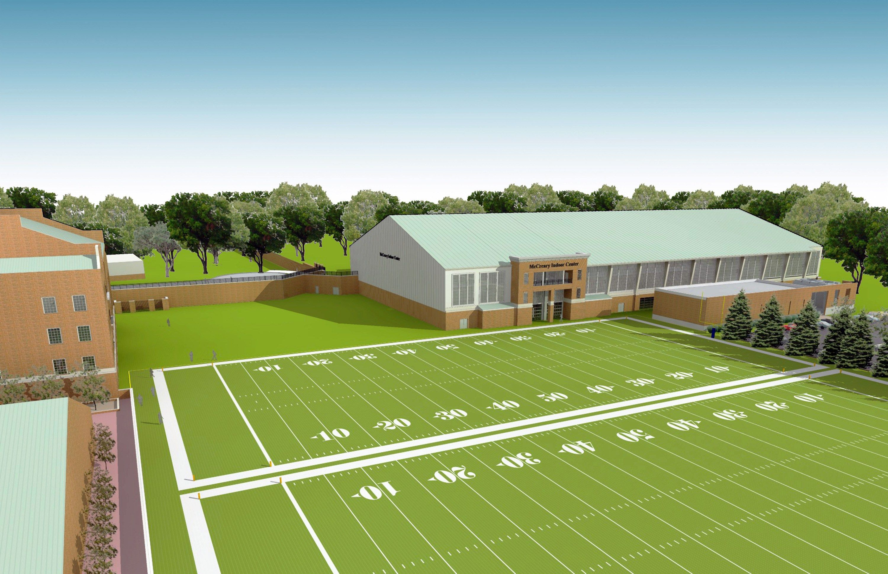 Image result for wake forest indoor practice facility indoor