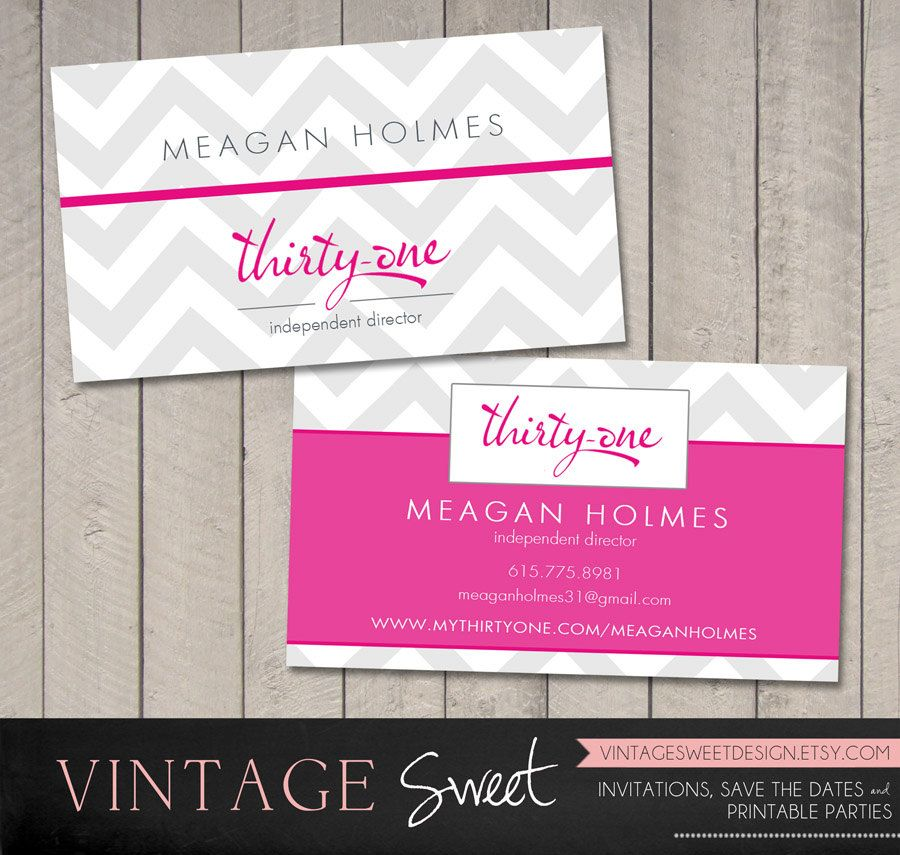 ThirtyOne Chevron Reward Business Card by vintagesweetdesign, $10.00 ...