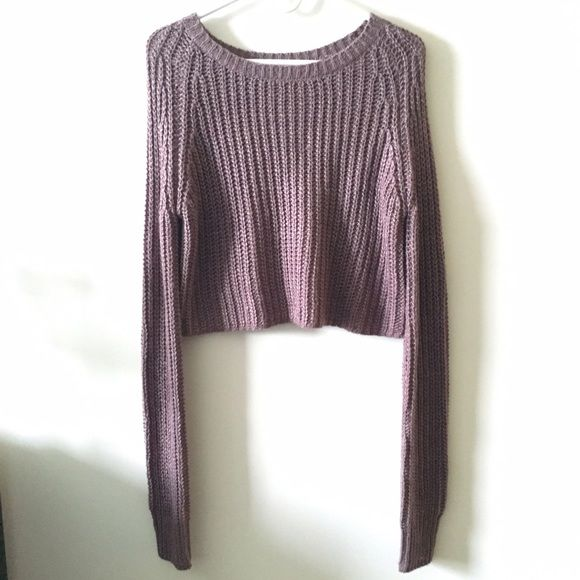 Urban Outfitters Cropped Sweater Purple Crop Top Urban Outfitters
