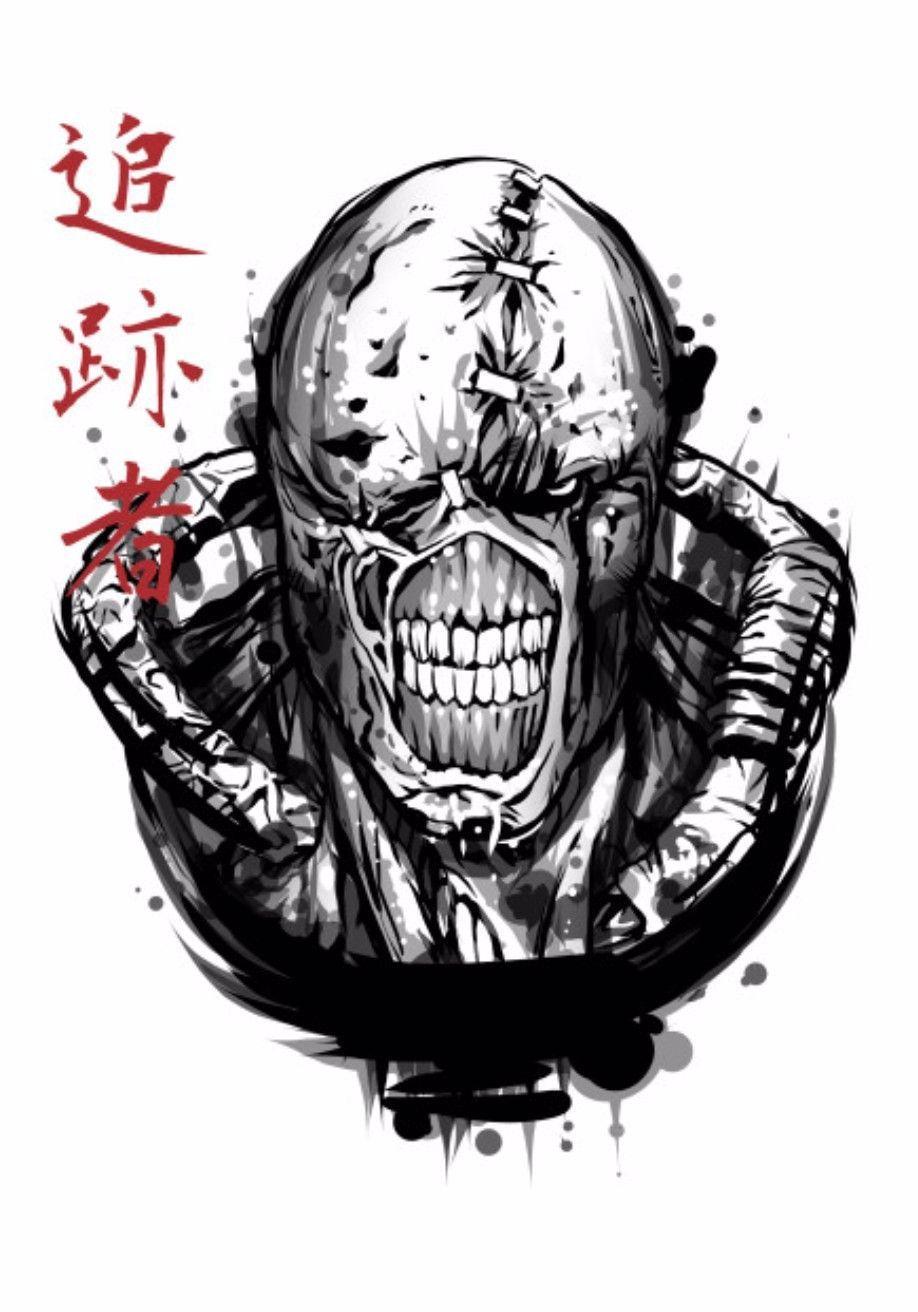 Nemesis Resident Evil In 2020 Resident Evil Tattoo Resident