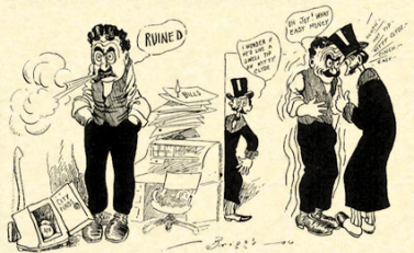 1903 Chicago comic strip, A. Piker Clerk by Clare Briggs