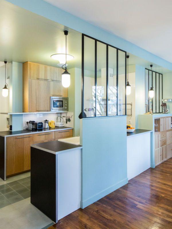une verri re dans la cuisine pour une pi ce semi ouverte d coration pinterest cuisine. Black Bedroom Furniture Sets. Home Design Ideas