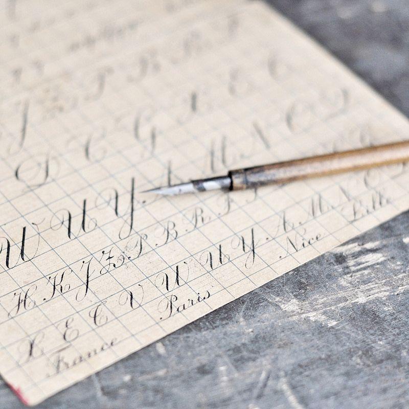 cursive writing guide + fountain pen | French cursive ...