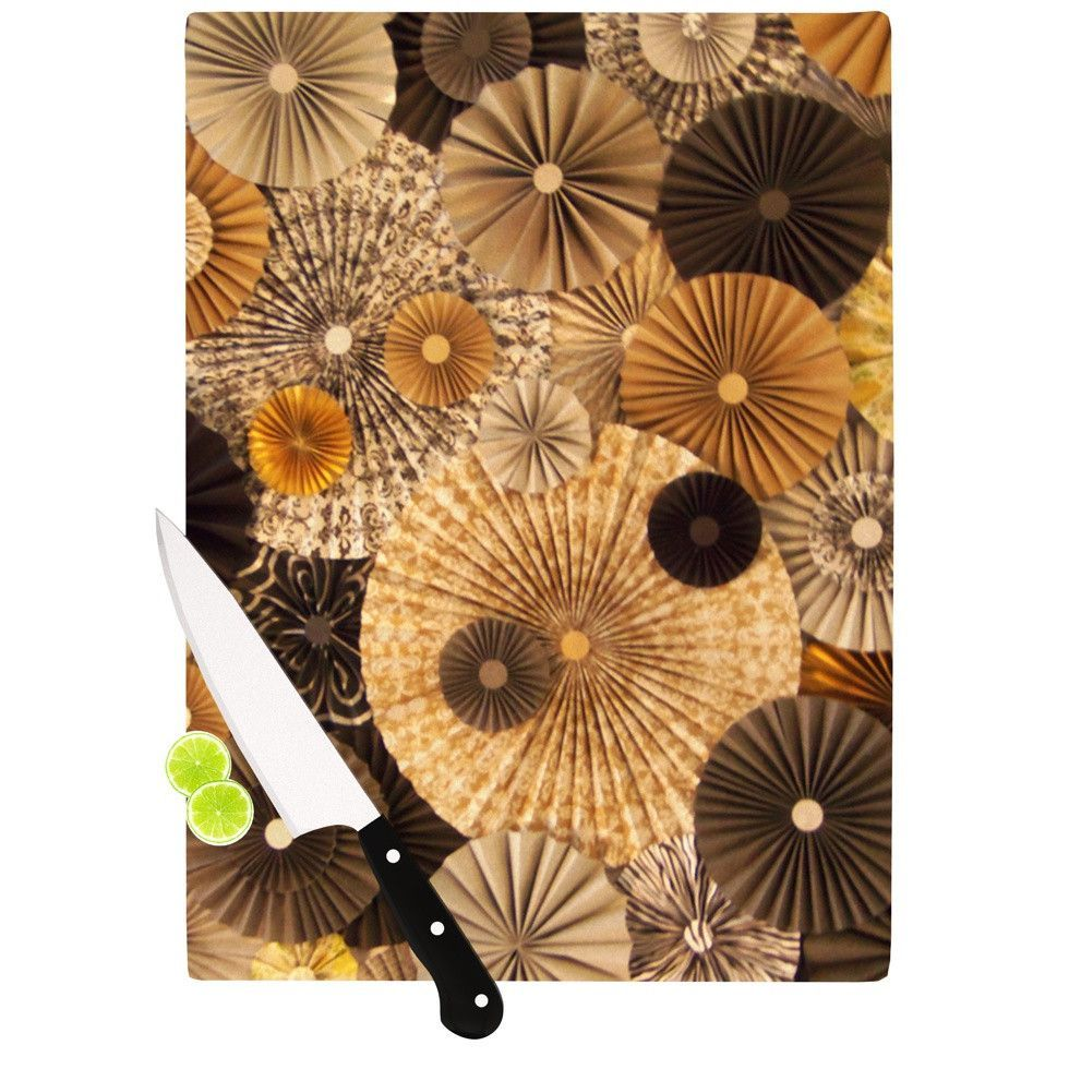 """Heidi Jennings """"Grounded"""" Brown Paper Cutting Board"""