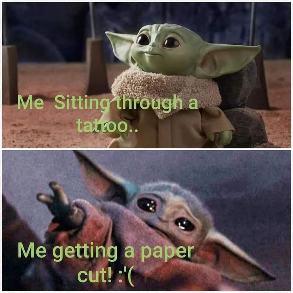 Owie R Babyyoda Baby Yoda Grogu Yoda Funny Yoda Meme Yoda Images