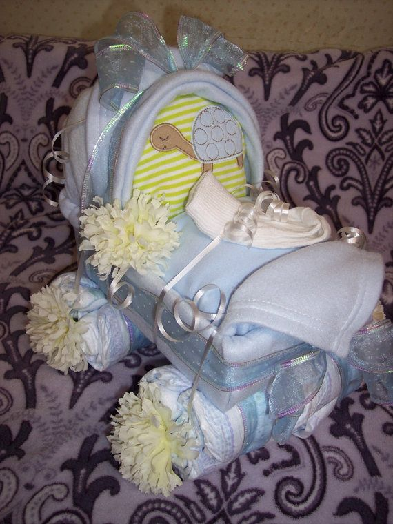 Handmade diaper cakes special order by HisAmazingGrace on Etsy, $55.00