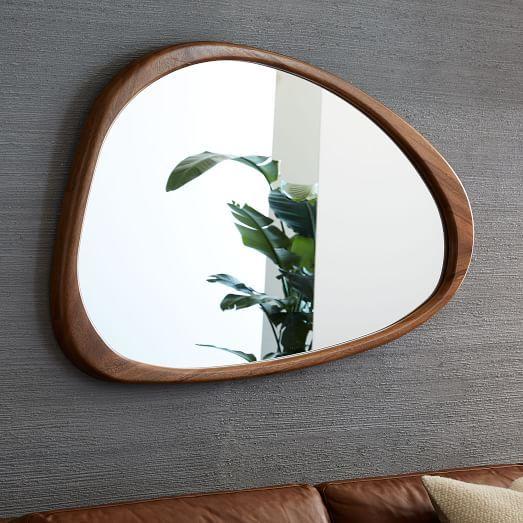 Mid Century Modern Round Wall Decor Mirror 20 Diameter Green