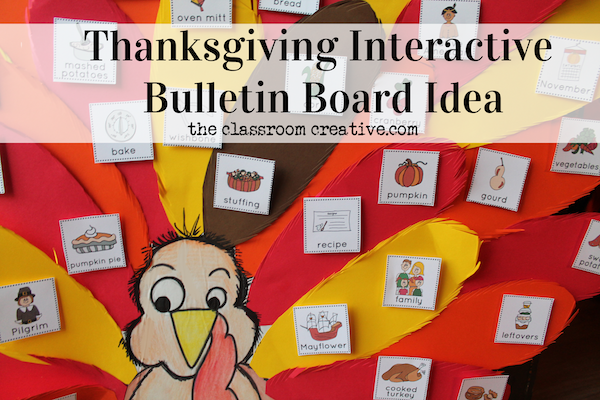 Make your bulletin boards interactive! Here's a fun idea for a Thanksgiving Bulletin Board that teaches Thanksgiving vocabulary! #novemberbulletinboards Make your bulletin boards interactive! Here's a fun idea for a Thanksgiving Bulletin Board that teaches Thanksgiving vocabulary! #novemberbulletinboards Make your bulletin boards interactive! Here's a fun idea for a Thanksgiving Bulletin Board that teaches Thanksgiving vocabulary! #novemberbulletinboards Make your bulletin boards interactive! He #novemberbulletinboards