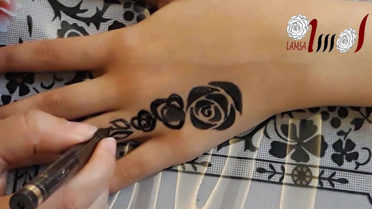 اجمل نقوش الخظاب الاسود The Most Beautiful Black Henna Youtube Henna Hand Tattoo Hand Henna Print Tattoos