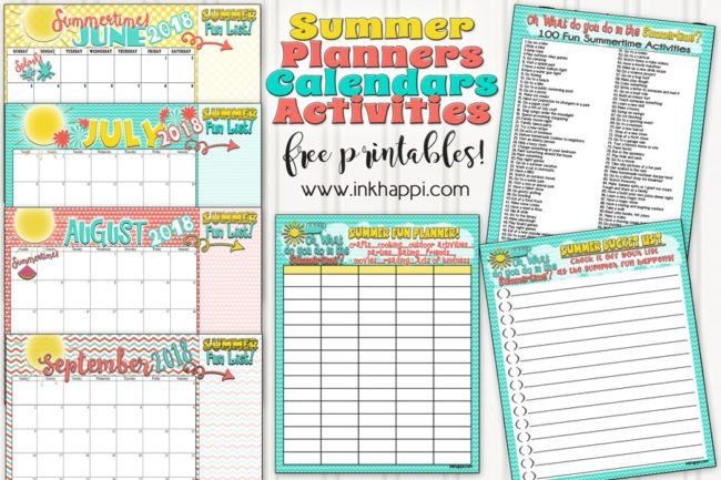 Summer Planning Calendars, Bucket List and Ideas BEST BLOGGERS