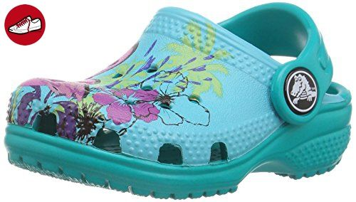 crocs Kinder Unisex 204118 Clogs, Blau (Multi Color Blue), 33/34 EU