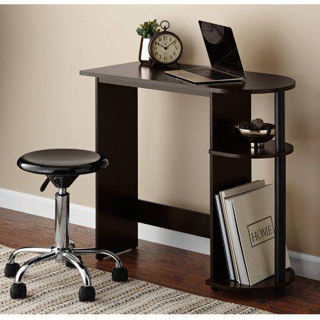 Mainstays Computer Desk With Built In Shelves Multiple Colors Walmart Com Small Computer Desk Desk Computer Desk