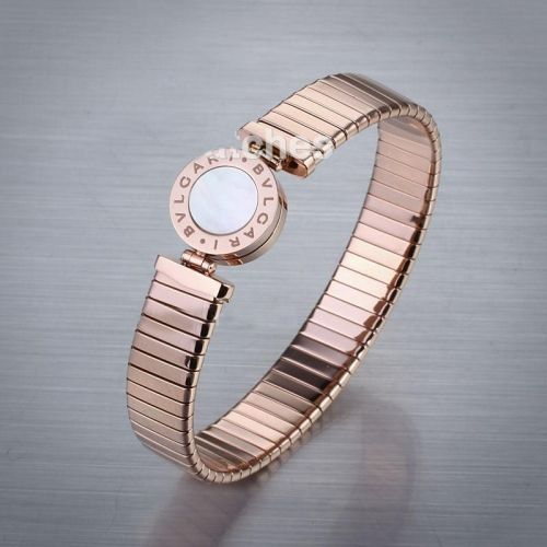 Knockoff Bvlgari Rose Gold Bracelet Plated with Mother of Pearls