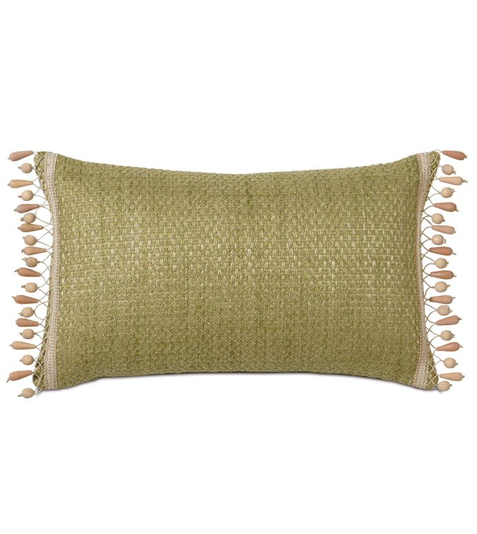Eastern Accents Wades Green With Beaded Trim Pillows Eastern Accents Beaded Pillow