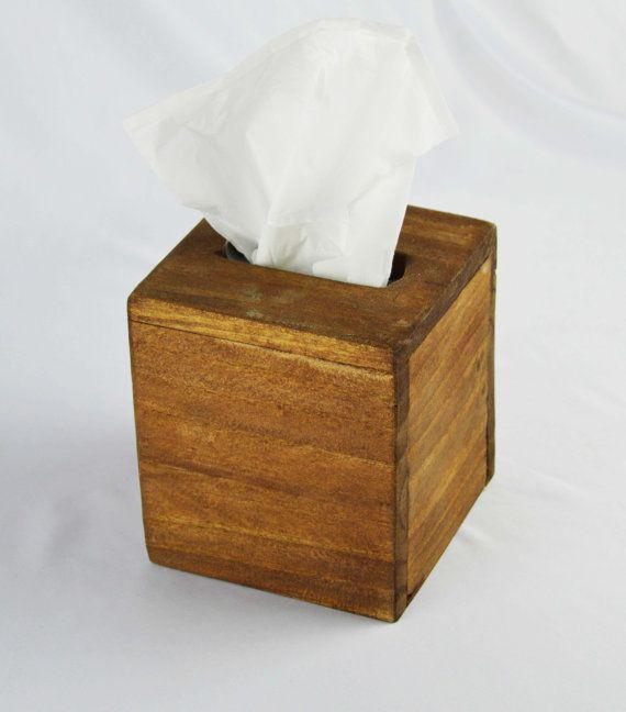 Wood Tissue Box Cover Kleenex