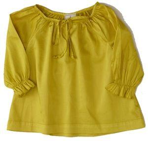 Image of flavia blouse-ochre
