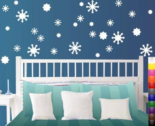 Stikeez White Snowflake 30 Pack Multi Size Fun Wall Window Snow Decals Stikeez Http Www Amazon Com Dp B00 Wall Decals Light Purple Walls Flower Wall Decals