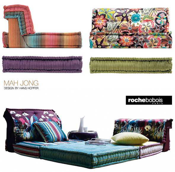 missoni roche bobois the mah jong modular sofa was first. Black Bedroom Furniture Sets. Home Design Ideas