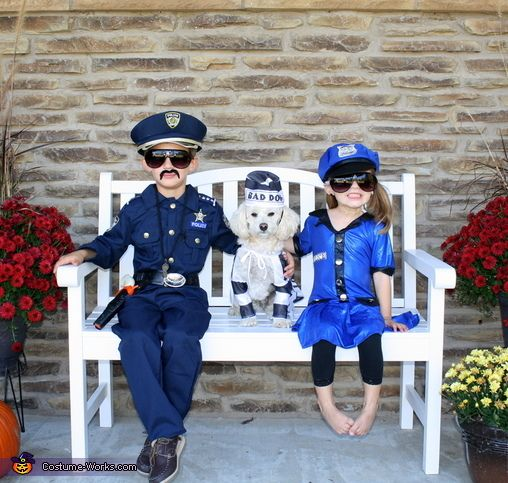Police Officers and Bad Dog - Halloween Costume Contest at Costume - mother daughter halloween costume ideas