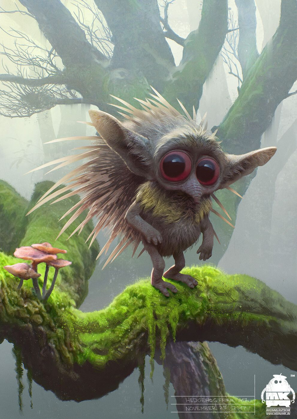 Maleficent 2 Hedgehog Fairie Character Design By Michael