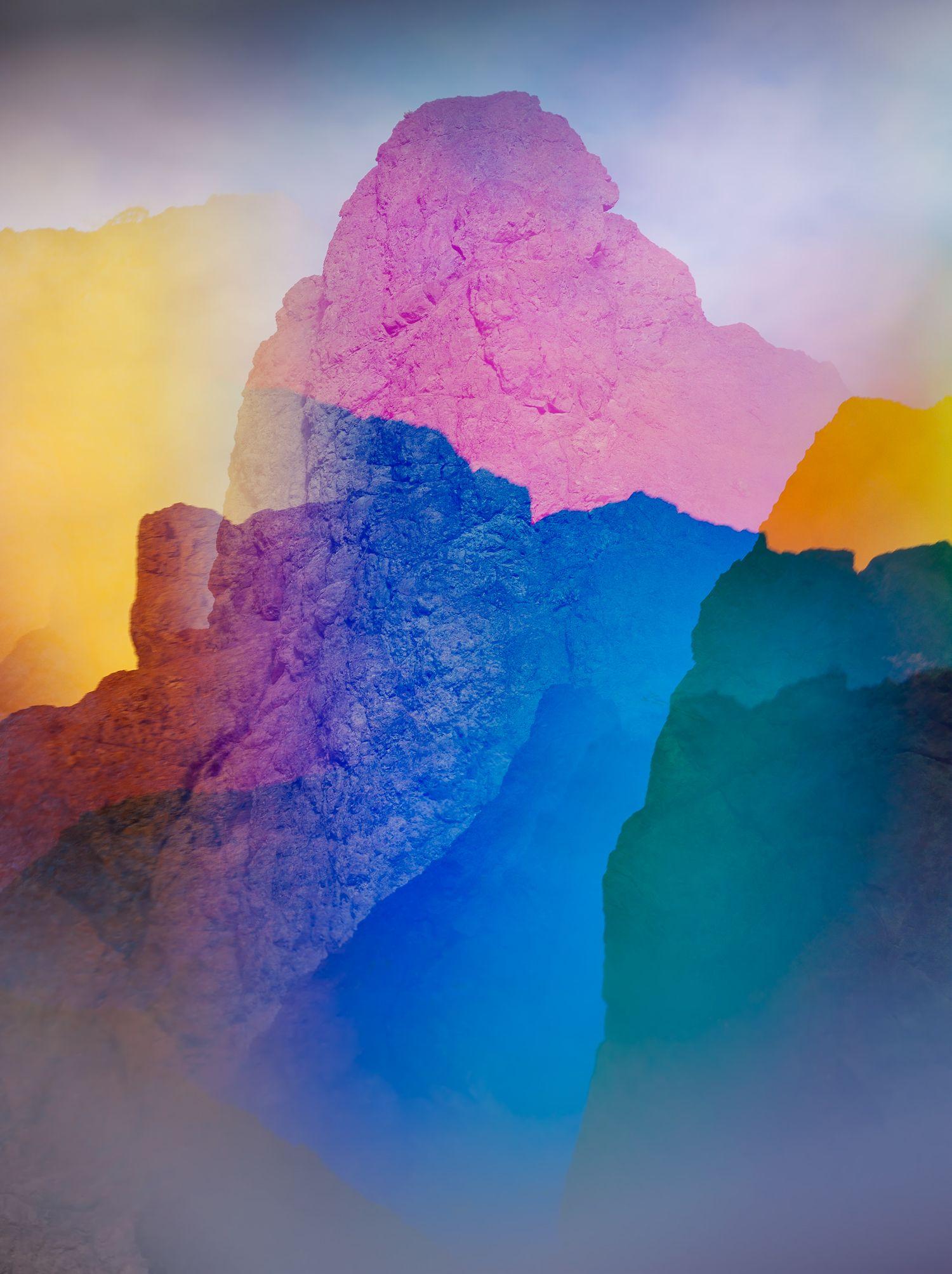 These Psychedelic Rainbow Colored Landscape Photos Make A Subtle Political Statement Landscape Photography Colorful Landscape Landscaping With Rocks