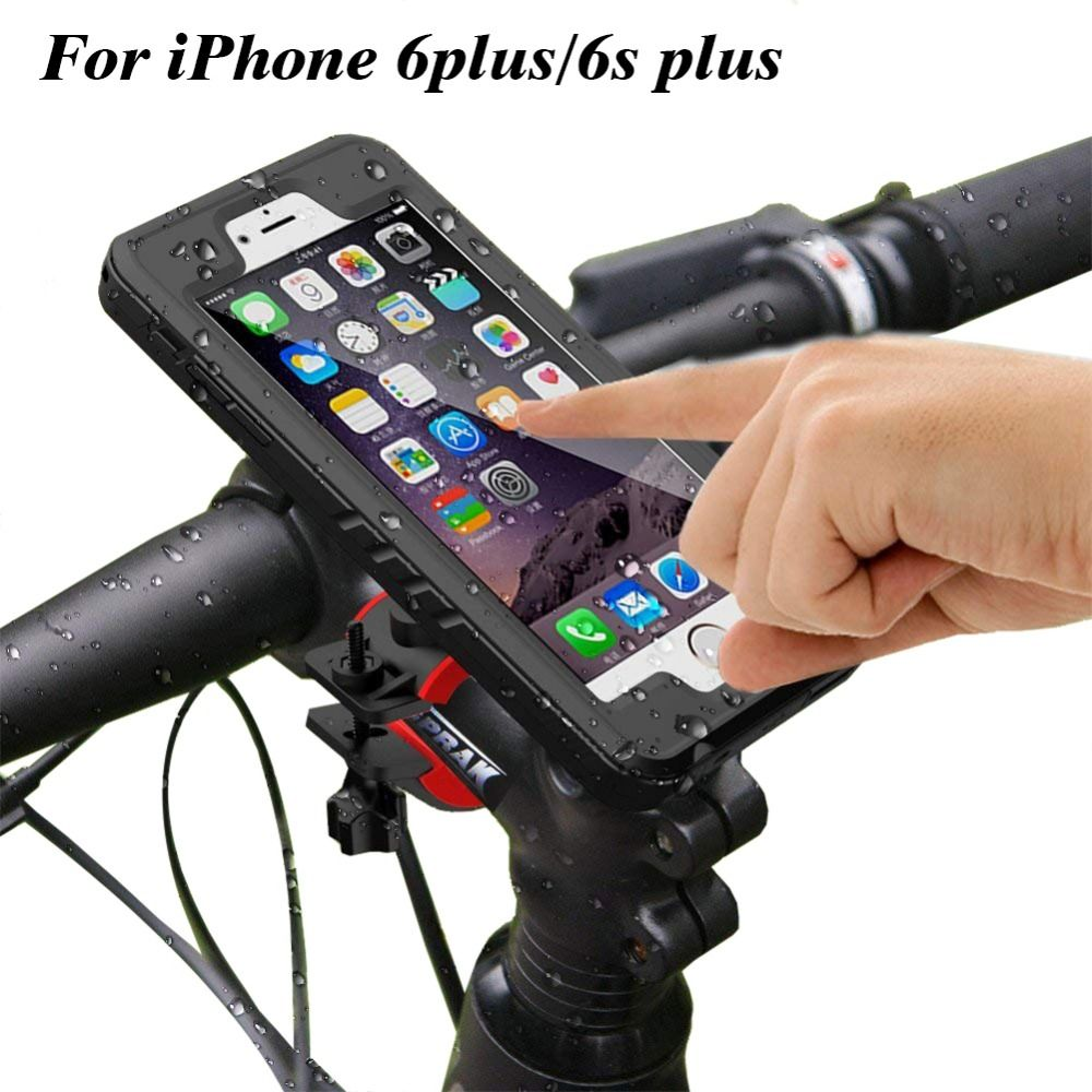 Bicycle Phone Holder Stand Gps For Iphone 6 Plus Waterproof Case
