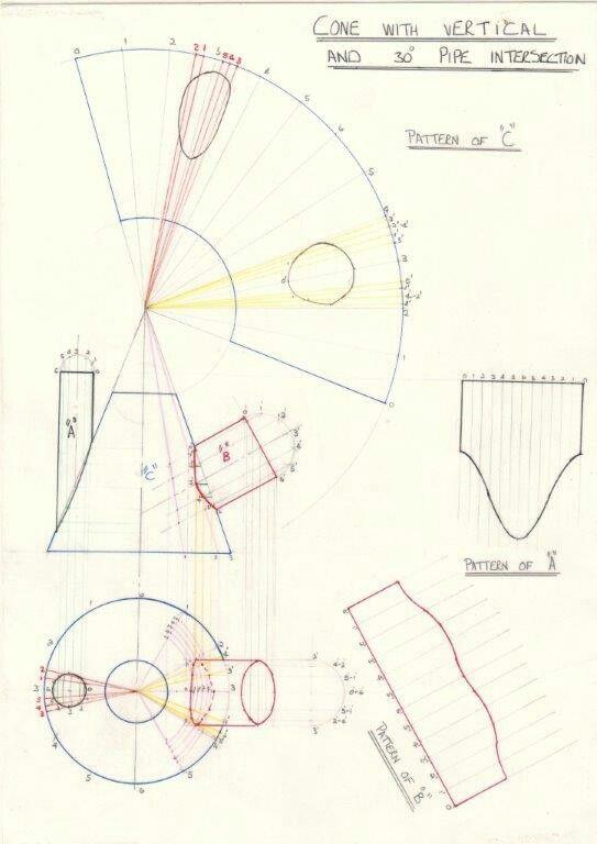 Desenvolvimento Tracagem Sheet Metal Drawing Sheet Metal Fabrication Technical Drawing